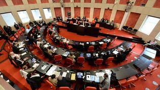 L'hémicycle du conseil départemental de Vendée, à La Roche-sur-Yon, le 2 avril 2015. (MAXPPP)