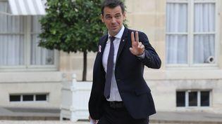 Olivier Veran, rapporteur du projet de loi de financement de la sécurité sociale, le 17 octobre 2017 à Paris. (LUDOVIC MARIN / AFP)