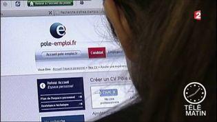 Une personne consultant le site web de Pôle Emploi (FRANCE 2)