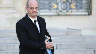Le ministre de l'Education nationale, Jean-Michel Blanquer, à la sortie de l'Elysée, à Paris, le 12 décembre 2018. (LUDOVIC MARIN / AFP)