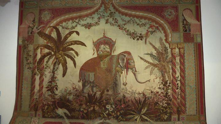 La fameuseTapisserie à l'éléphant attribuée àJean-Baptiste-Amédée Couder. (C. Rongere / France Télévisions)