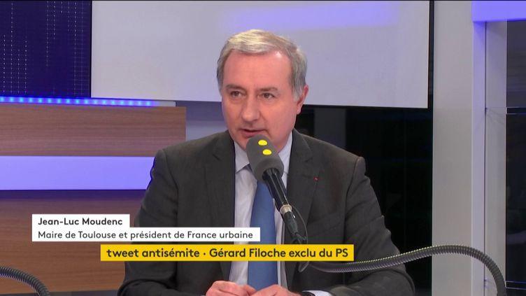 Jean-Luc Moudenc, maire Les Républicains de Toulouse et président de France urbaine, était l'invité de Tout est politique, mardi 21 novembre sur franceinfo. (FRANCEINFO / RADIOFRANCE)