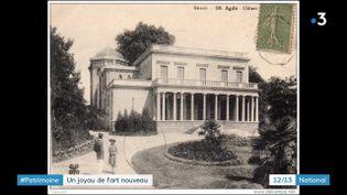 Au bord de l'Hérault, à Agde, la villa Laurent constitue un énorme chantier de restauration. (France 3)