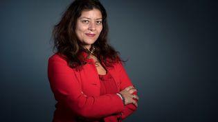 La journaliste Sandra Muller à Paris, le 14 mars 2018. (BERTRAND GUAY / AFP)