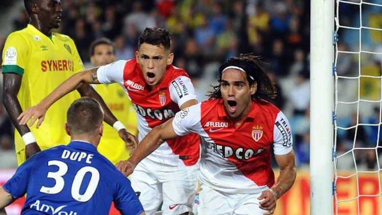 Falcao (AS Monaco) a ouvert le score face à Nantes (JEAN-SEBASTIEN EVRARD / AFP)