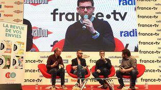 François Bégaudeau, Joseph Ponthus et Nicolas Mathieu, Salon Livre Paris  (Laurence Houot - Culturebox)