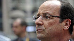 Le président français, François Hollande, à son arrivée au Conseil européen, jeudi 27 juin 2013, à Bruxelles (Belgique). (GEORGES GOBET / AFP)