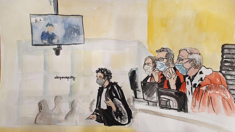 L'avocate d'Ali Rizat Polat, Isabelle Coutant-Peyre, le 23 octobre 2020 au procès des attentats de janvier 2015, à Paris. (ELISABETH DE POURQUERY / FRANCEINFO)