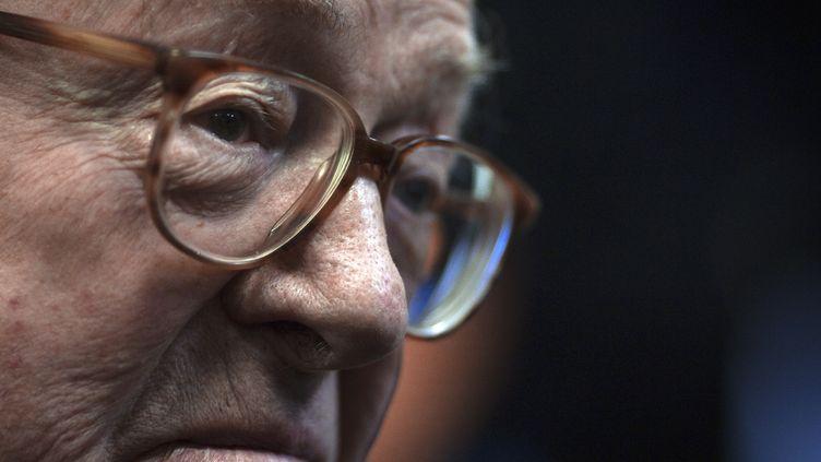 L'ancien président du Front national, Jean-Marie Le Pen, à Nanterre (Hauts-de-Seine), le 5 janvier 2012. (JOEL SAGET / AFP)