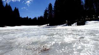 La fonte des neige au col de Porte en Isère. (MAXPPP)
