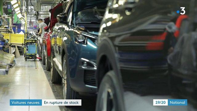 Automobile : une rupture de stock de voitures neuves