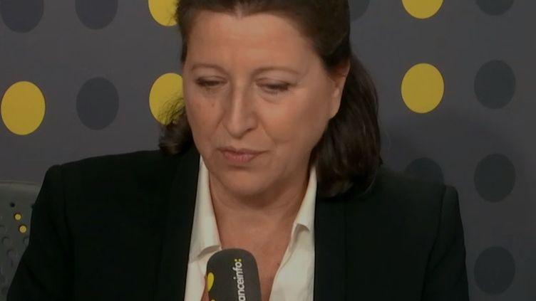 La ministre de la Santé Agnès Buzyn, le 9 octobre 2019 sur franceinfo. (FRANCEINFO / RADIOFRANCE)