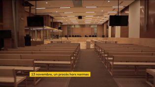 La salle du procès des attentats du 13-Novembre a été spécialement créée (FRANCEINFO)