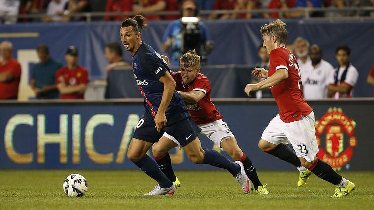 Zlatan Ibrahimovic et le PSG ont conclu une préparation convaincante par une victoire contre Manchester United. (JOSHUA LOTT / AFP)