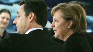 Nicolas Sarkozy et Angela Merkel (archives) (AFP Pool Dominique Faget)