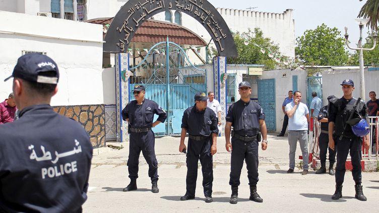 L'entrée de la prison d'El Harrach, le 13 juin 2019. (- / AFP)