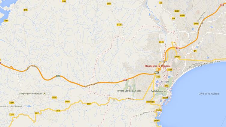 Quelque 900 grammes d'explosif ont été retrouvés le 17 février 2014 dans un immeuble de Mandelieu-La-Napoule, près de Cannes (Alpes-Maritimes). (GOOGLE MAPS)