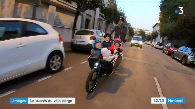 Transports : le succès du vélo-cargo sur les routes de Limoges