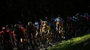 Les coureurs du Tour de France reprennent la route pour la 16e étape. (MARCO BERTORELLO / AFP)