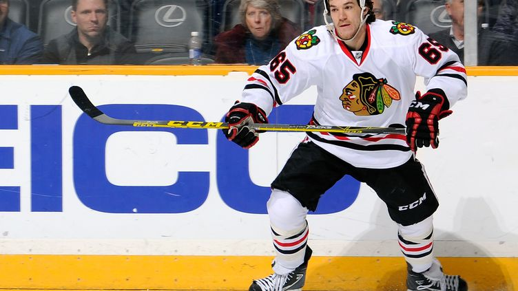Andrew Shaw des Chicago Blackhawks (FREDERICK BREEDON / GETTY IMAGES NORTH AMERICA)