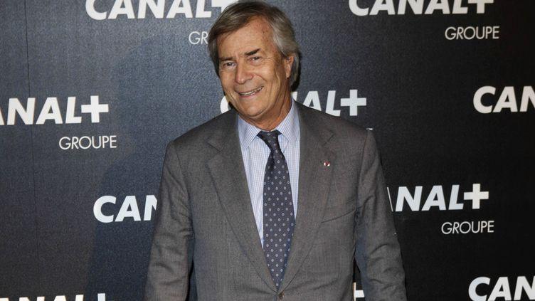 Vincent Bolloré assisteà un événement organisé par Canal+, en février 2016, à Paris. (GEOFFROY VAN DER HASSELT / AFP)
