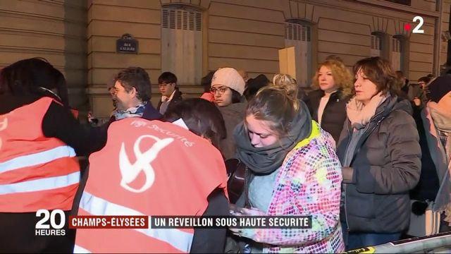 Champs-Elysées : un réveillon sous haute sécurité