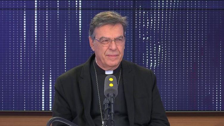 MichelAupetit, archevêque de Paris, était l'invité de franceinfo mardi 1er octobre. (FRANCEINFO / RADIOFRANCE)