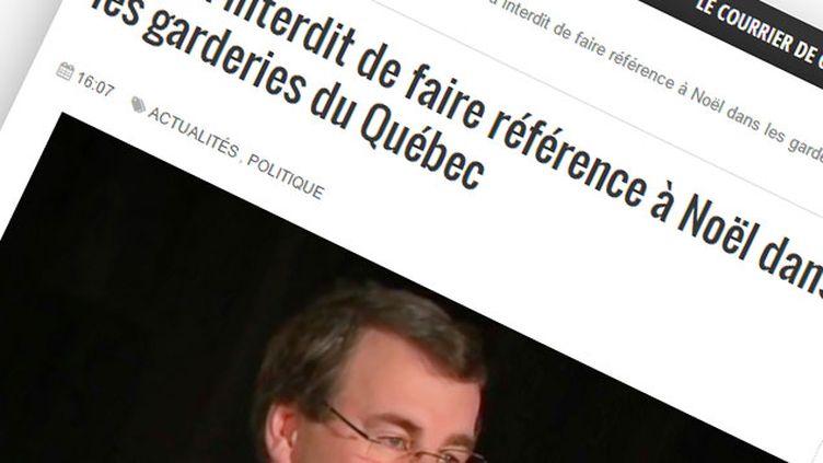 (Une rumeur affirme que le gouvernement québécois veut supprimer Noël dans les garderies © Capture d'écran Les Manchettes)