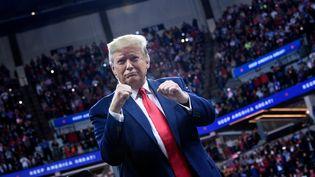 Le président américain Donald Trumplors d'une réunion publique à Minneapolis le 10 octobre 2019. (BRENDAN SMIALOWSKI / AFP)