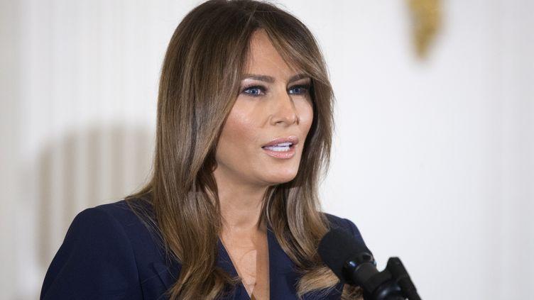 Melania Trump à la Maison Blanche, à Washington (États-Unis), le 9 mars 2018. (MAXPPP)