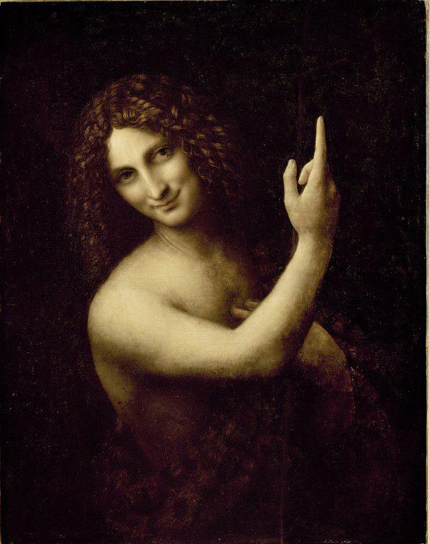 """Léonard de Vinci : """"Saint Jean Baptiste""""  (Leemage)"""