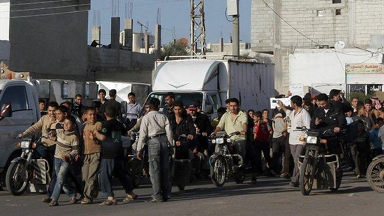 Marche anti-gouvernementale à Daraa, en Syrie, le 21 mars 2011 (archives) (AFP/STR)