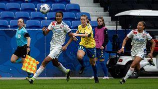 Les Lyonnaises se sont qualifiées pour la Ligue des champions en éliminant Brondby en barrages. (NICOLAS LIPONNE / HANS LUCAS)