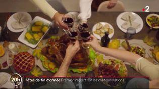 Les fêtes de fin d'année inquiétaient vivement les scientifiques. Avec le recul, la France ne note pas de grande flambée des contaminations, mais un rebond est observé, rapporte France 2, mercredi 13 janvier. (FRANCE 2)
