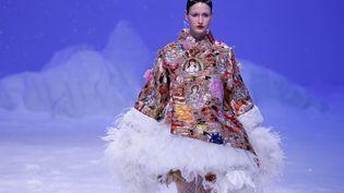 Défilé Guo Pei couture printemps-été 2020, le 22 janvier 2020 à Paris (FRANCOIS GUILLOT / AFP)