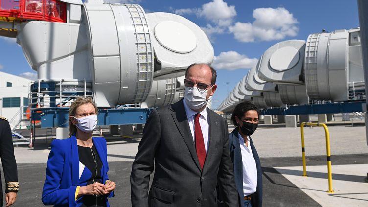 Le Premier ministre Jean Castex, le 28 août 2021 à Saint-Nazaire (Loire-Atlantique).  (MAXPPP)