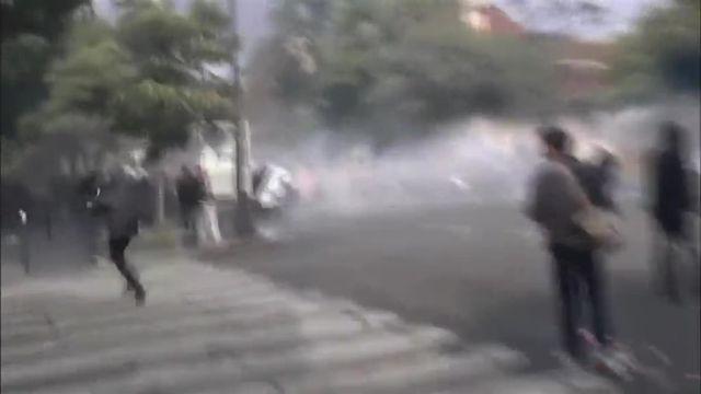 Affrontements entre forces de l'ordre et manifestants