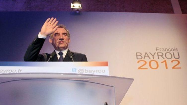 François Bayrou annonçant sa candidature (7 décembre 2012) (AFP/Jacques Demarthon)