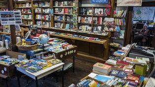 Une librairie , le 10 janvier 2018. (JOHN MACDOUGALL / AFP)