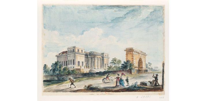 Hôtel Thélusson par Jean-Baptiste Lallemand (1716-1803)  (Bibliothèque Nationale)