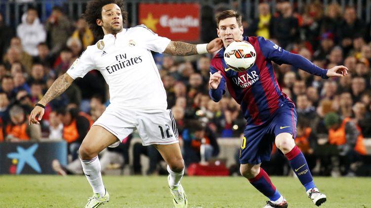 Marcelo et Lionel Messi devraient se croiser ce samedi sur la pelouse de Santiago-Bernabéu. (JOAN VALLS / NURPHOTO)