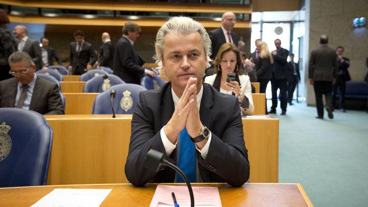 Le leader nationaliste néerlandais Geert Wilders au Parlement à La Haye le 24 avril 2012 (PHIL NIJHUIS / ANP)