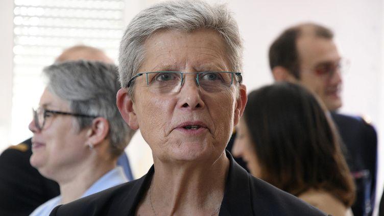 Geneviève Darrieussecq, secrétaire d'États auprès de la ministre des Armées en avril 2019, à Lyon. (JOEL PHILIPPON / MAXPPP)