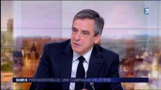 François Fillon, lors de son passage au JT de France 2. (FRANCE 3)