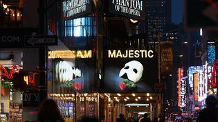A Broadway à New Yok, le 12 mars 2020 (ANGELA WEISS / AFP)