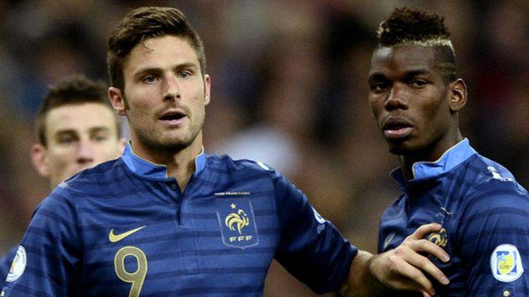 Les deux joueurs français Olivier Giroud et Paul Pogba