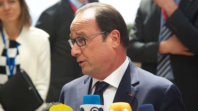 (François Hollande au sommet européen de Bruxelles ce lundi © MaxPPP)