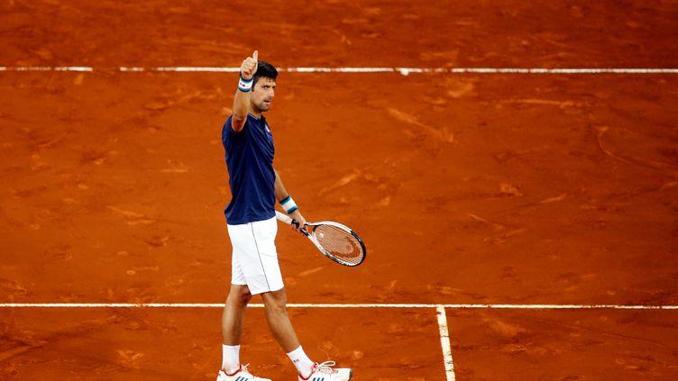 Le joueur serbe Novak Djokovic (OSCAR DEL POZO / AFP)