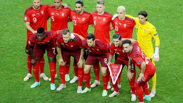 """La Suisse, adversaire des Bleus en huitièmes de finale de l'Euro 2021, est """"une équipe solide,avec de fortes individualités"""", estime Noël Le Graët, le président de la Fédération Française de Football. (ORANGE PICTURES / DPPI / AFP)"""