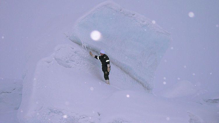 Un officier canadien àAlert (Canada), le 16 octobre 2004. (STEPHANIE PERTUISET / AFP)